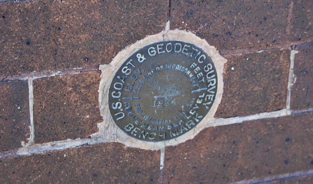 The Bench Mark at the Calumet Depot