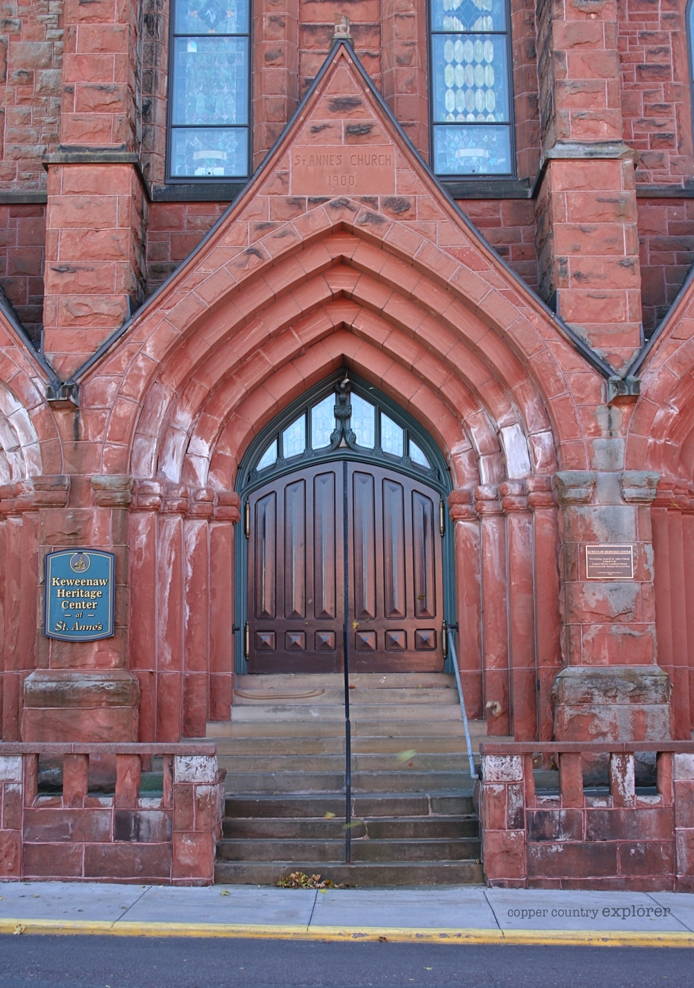 Main Entrance of St. Anne's Church, Calumet