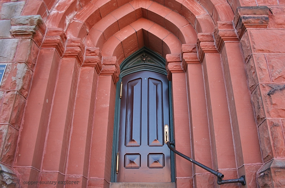 Secondary Entrance at St. Anne's Church, Calumet