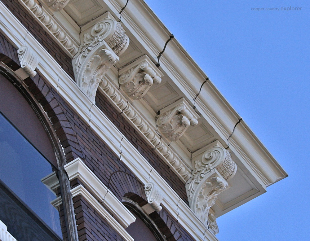 The Lavish Cornice of the First national Bank Building in Laurium