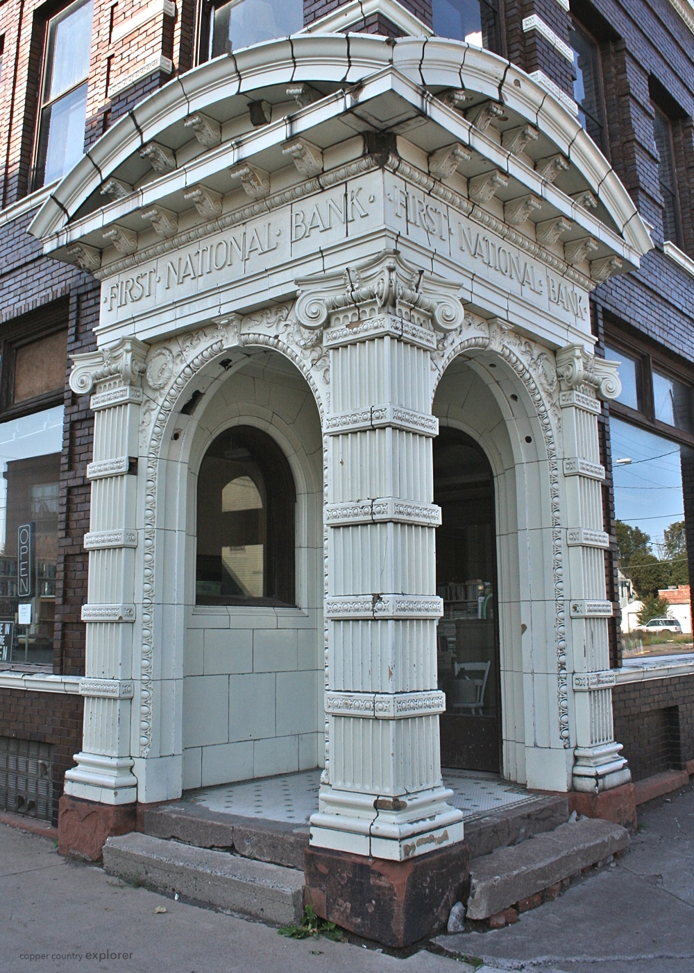 The Bank Entrance to the First National Bank Building in Laurium