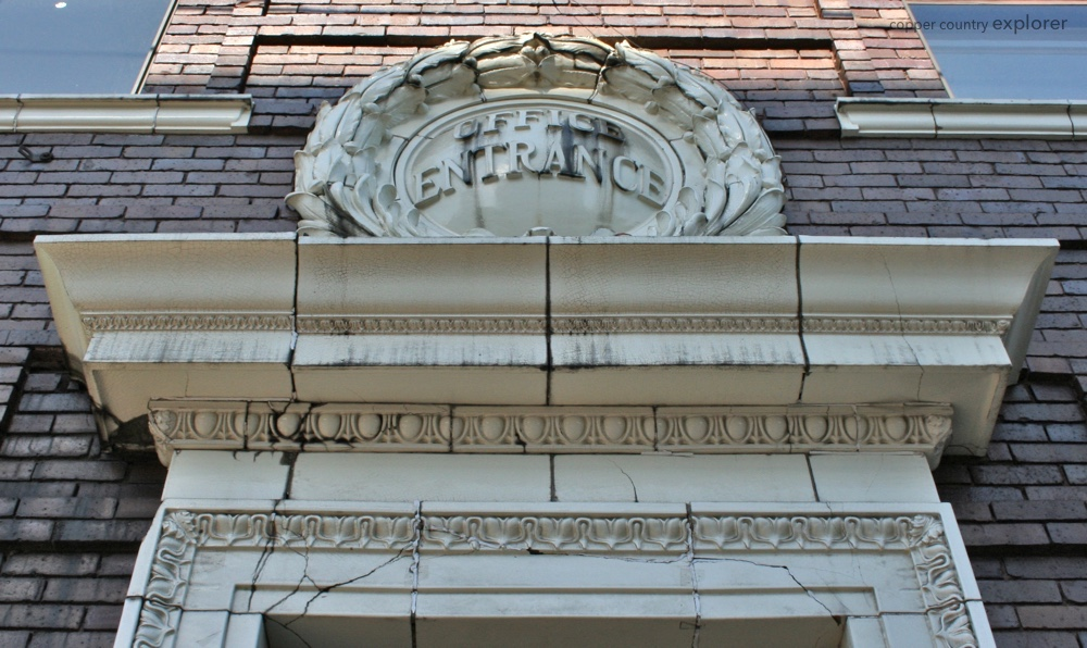 The Office Entrance of the First National Bank Building in Laurium