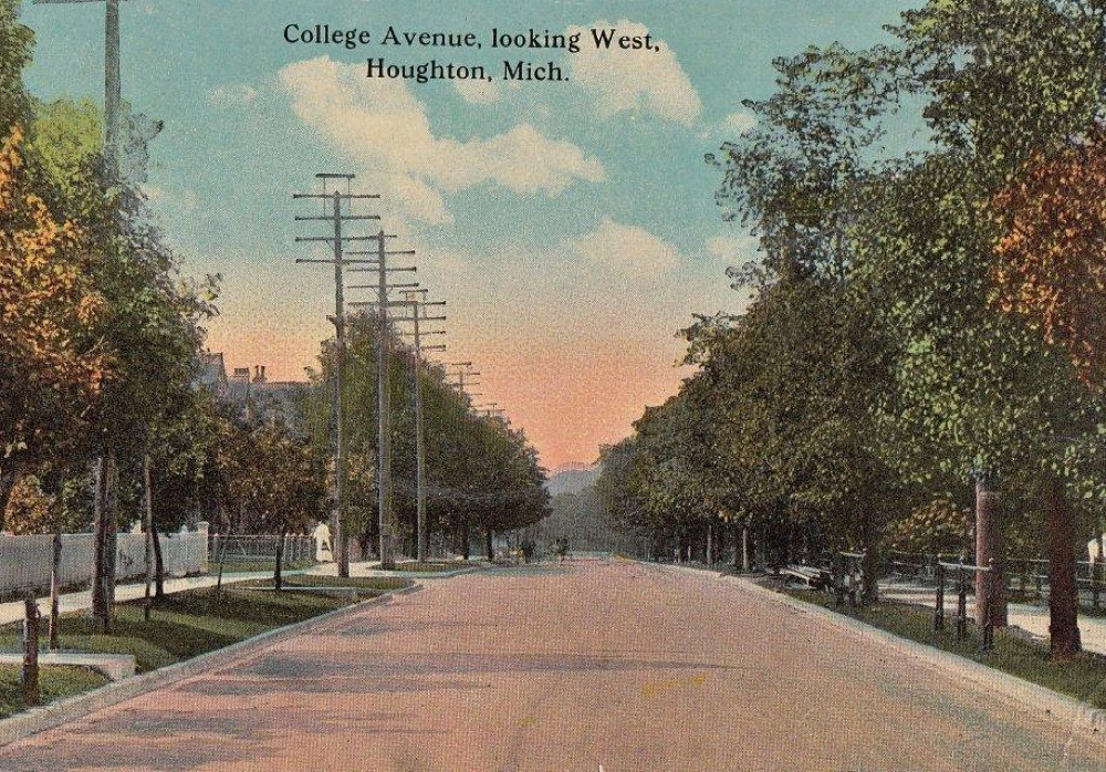 Looking Down College Ave